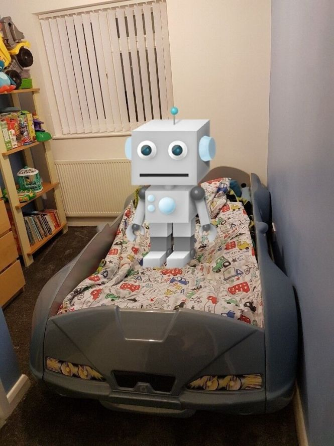 Childrens Car Bed Without Mattress