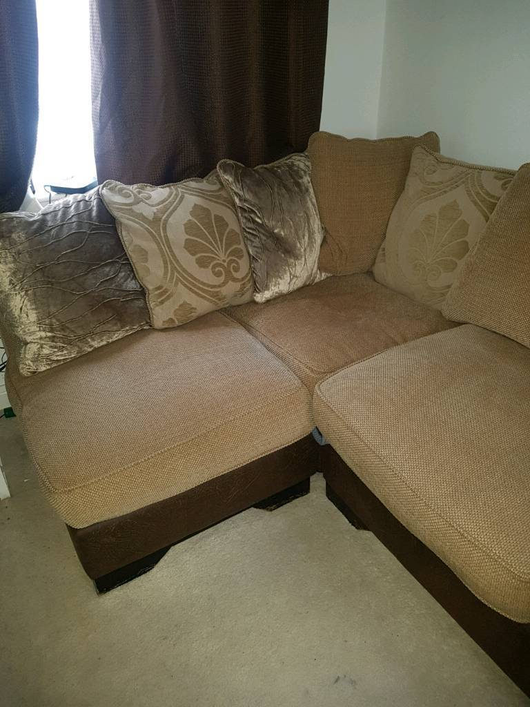 duck feather corner sofa ligne roset sleeper with and filled cushions brown beige