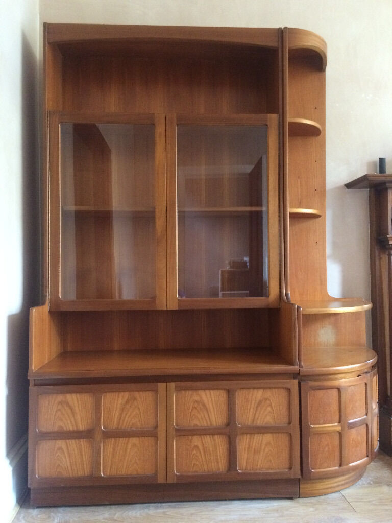 cast iron table and chairs gumtree indoor double arm chaise lounge chair large retro teak display cabinet sideboard with corner unit for sale | in southside, glasgow ...