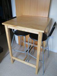 Ikea BJORKUDDEN Bar Table / Breakfast / Dining & Ikea ...
