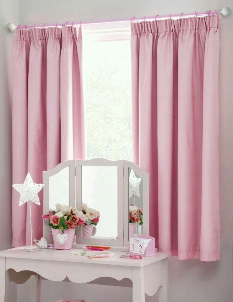 Girls light pink curtains  in Sandiacre Nottinghamshire