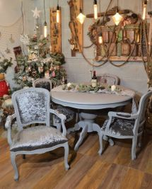 Refurbished Shabby Chic Italian Dining Table & 4