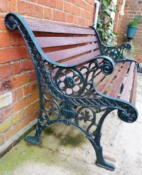 Antique/Vintage Cast Iron & Wood Bench for repair or ...