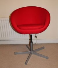 Red ikea skruvsta swivel chair | in North London, London ...