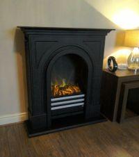 Adam Durham Electric Fireplace Suite In Black Cast Effect ...
