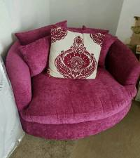 Pink cuddle chair swivel chair. Round sofa 2 seater | in ...