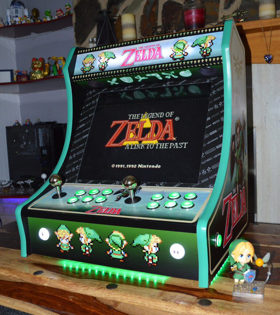 custom zelda themed bartop