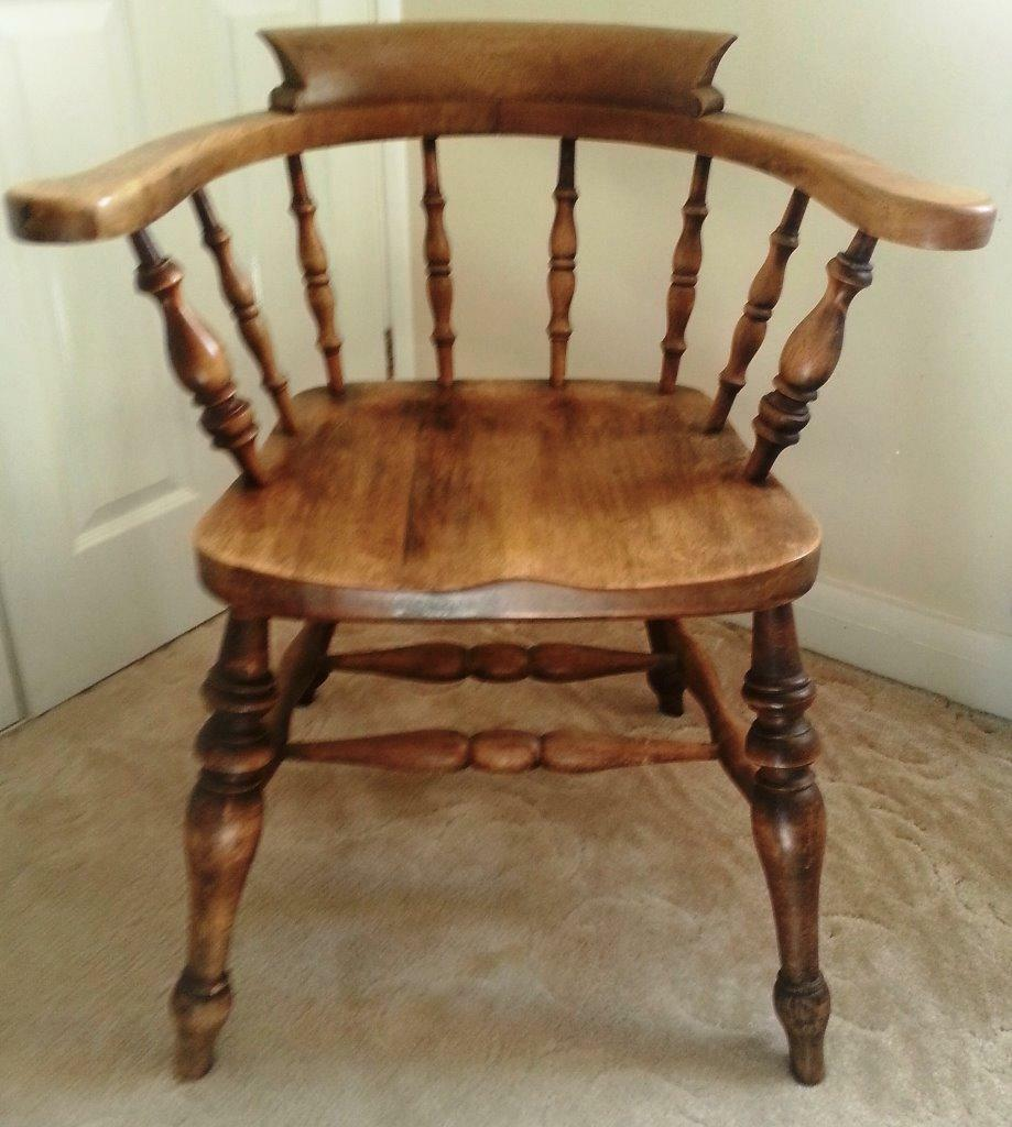 antique folding rocking chair modern side chairs for bedroom solid oak captains now reduced in price! | bodmin, cornwall gumtree