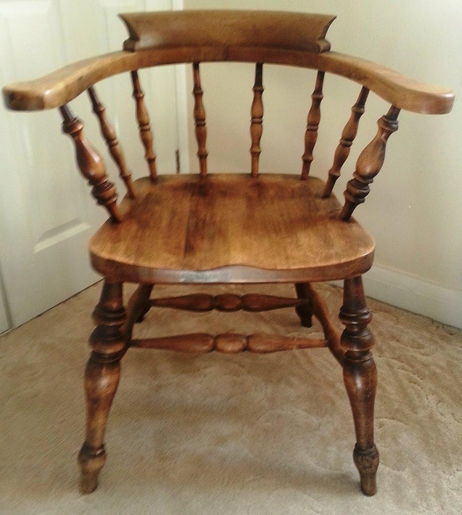 bedroom chair on gumtree bean bags chairs antique solid oak captains now reduced in price! | bodmin, cornwall