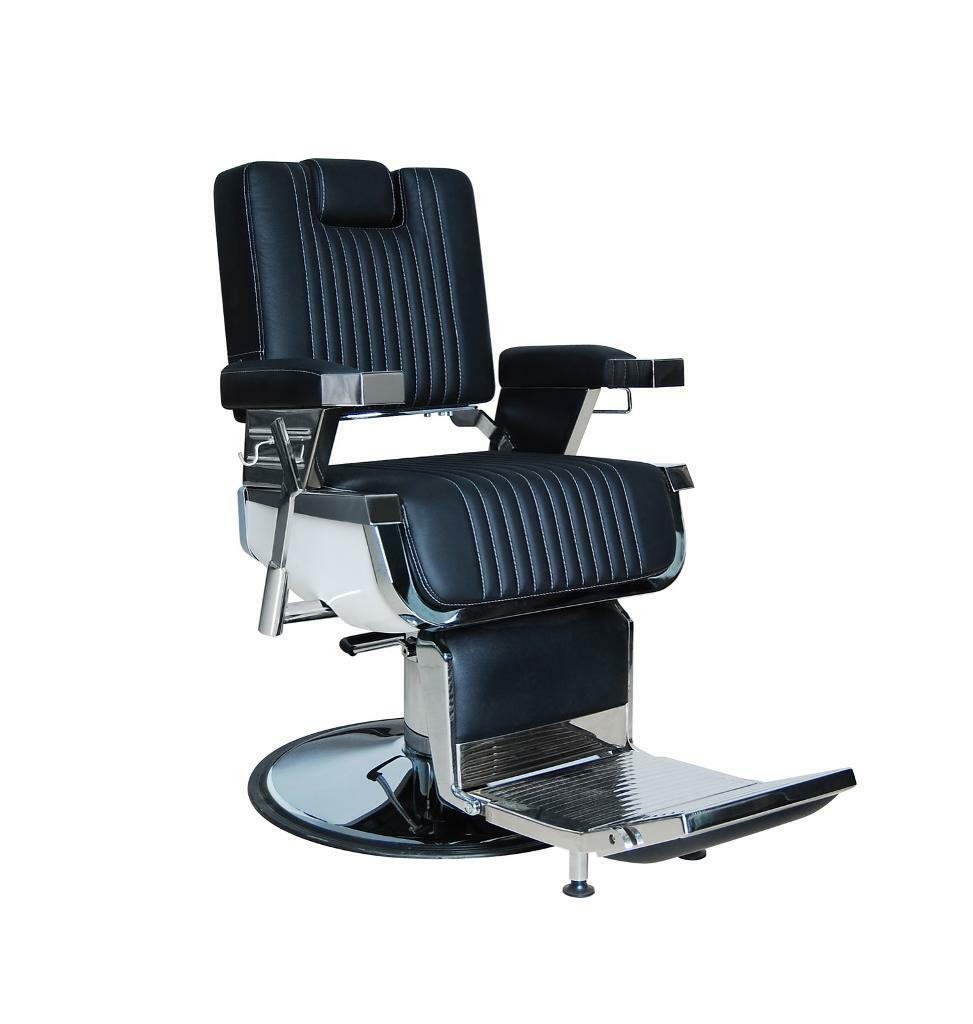 white barber chair uk colored folding chairs heavy duty real leather black and bc 20 hadi new