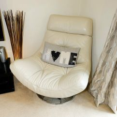 Electric Recliner Sofa Not Working Lounger Uk Salvador Cream Leather Swivel Chair From Furniture Village ...