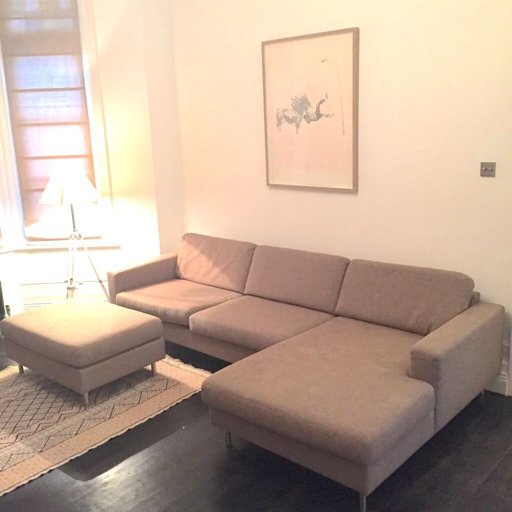 sofa upholstery west london best way to clean leather bolia scandinavia 3 seater with chaise longue right