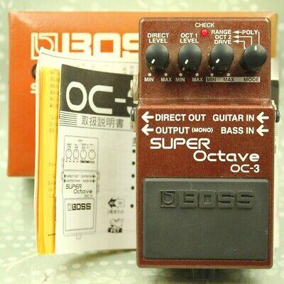 BOSS OC-3 SUPER Octave With original box octaver Guitar effect pedal (ZR30681)