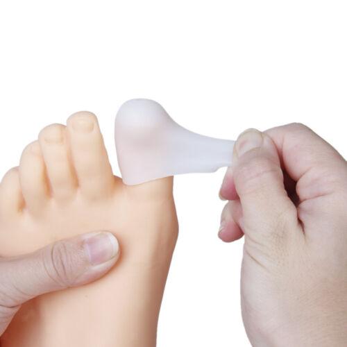 Weiche Silikon Zehenspreitzer Zehenkappe Zehenkorrektur Protektor Fußpflege