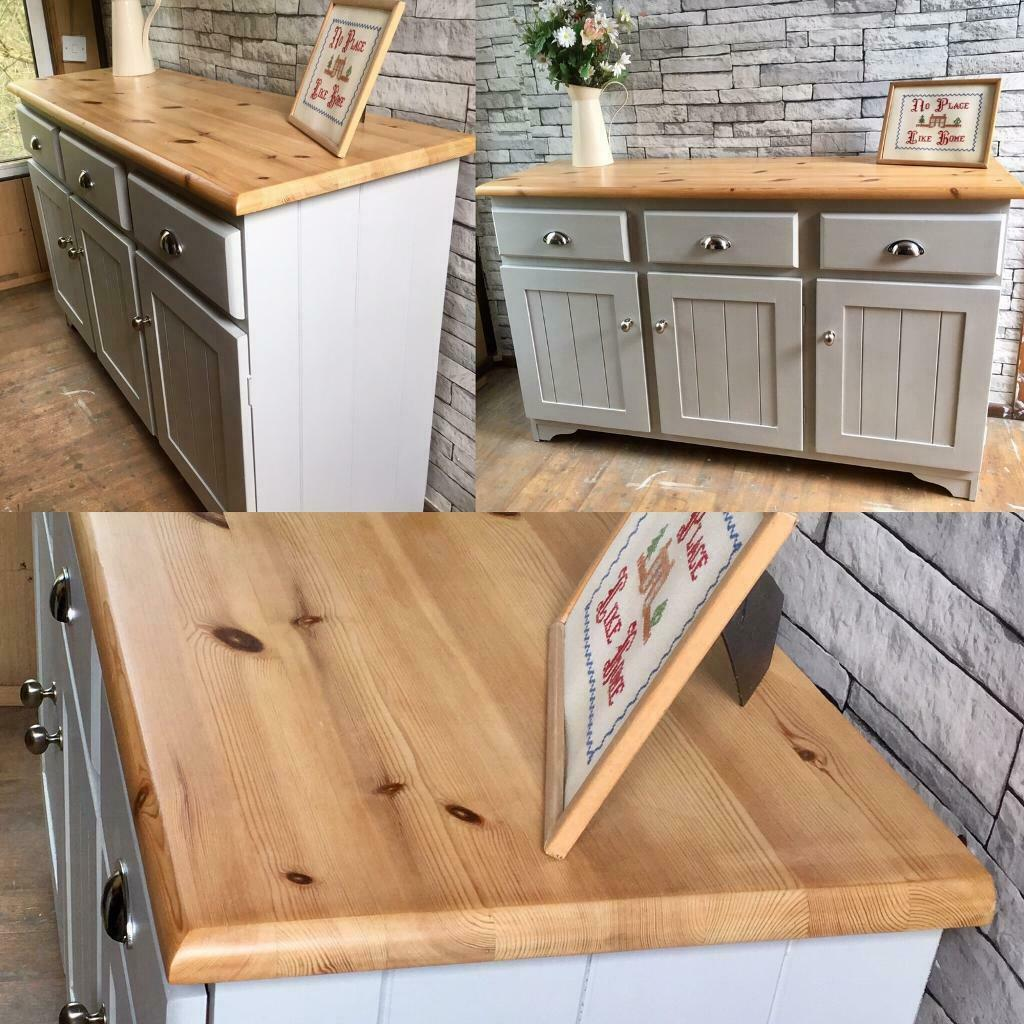 A Solid Pine Upcycled Sideboard Grey In Culverhouse Cross Cardiff Gumtree