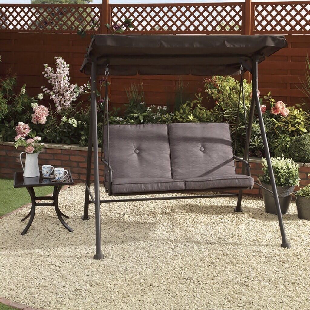 NEW Capri 2 Seater Swing Chair Outdoor Garden Furniture