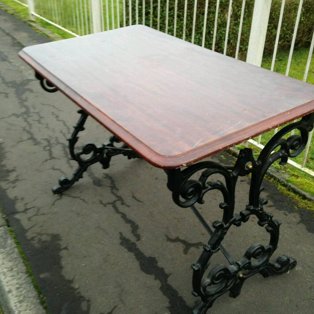 cast iron table and chairs gumtree infant bouncy chair base dining garden tables ex pub items in