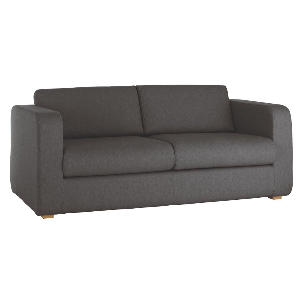 3 seater sofa photos used sectional for sale habitat porto charcoal fabric bed in