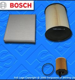 details about service kit for ford focus mk3 1 6 tdci bosch oil air fuel filters 2010 2017  [ 1024 x 1024 Pixel ]