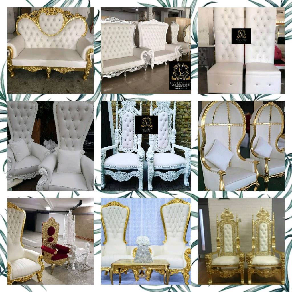 gumtree wedding chair covers for sale office too high flowerwalls dancefloors thronechairs charger plates plate