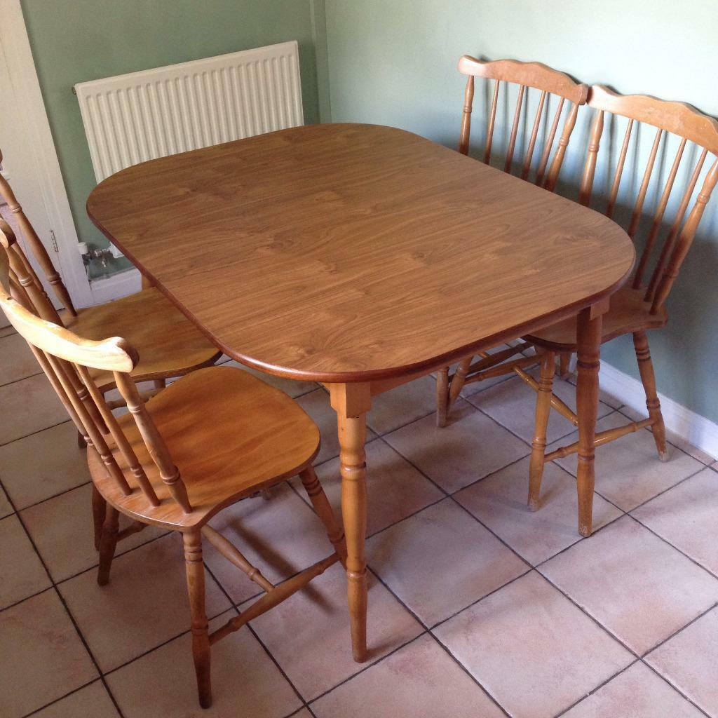 Kitchen Tables With Chairs Extendable Wooden Kitchen Table With Four Chairs For Sale