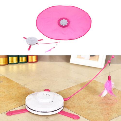 Elektrisch Katzenspielzeug 360 Grad drehend Federspielzeug Interaktives