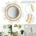 Rattan Round Wall Mirror Hanging Decorative Bedroom Dressing Table Vanity Mirror Ebay