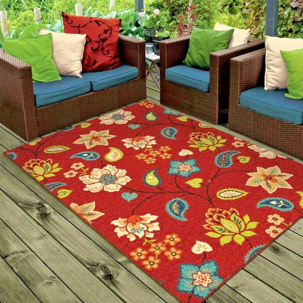 Details About Rugs Area Rugs 8x10 Outdoor Rugs Indoor Outdoor Carpet Large Kitchen Patio Rugs