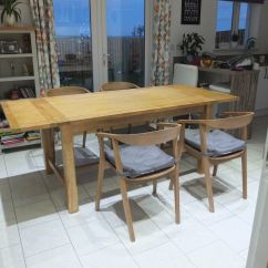 Used Oak Table And Chairs Oversized Lounge Chair Outdoor Farmhouse Extending Dining Quot Never In