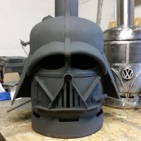 Star Wars darth Vader style patio heater gas bottle log ...