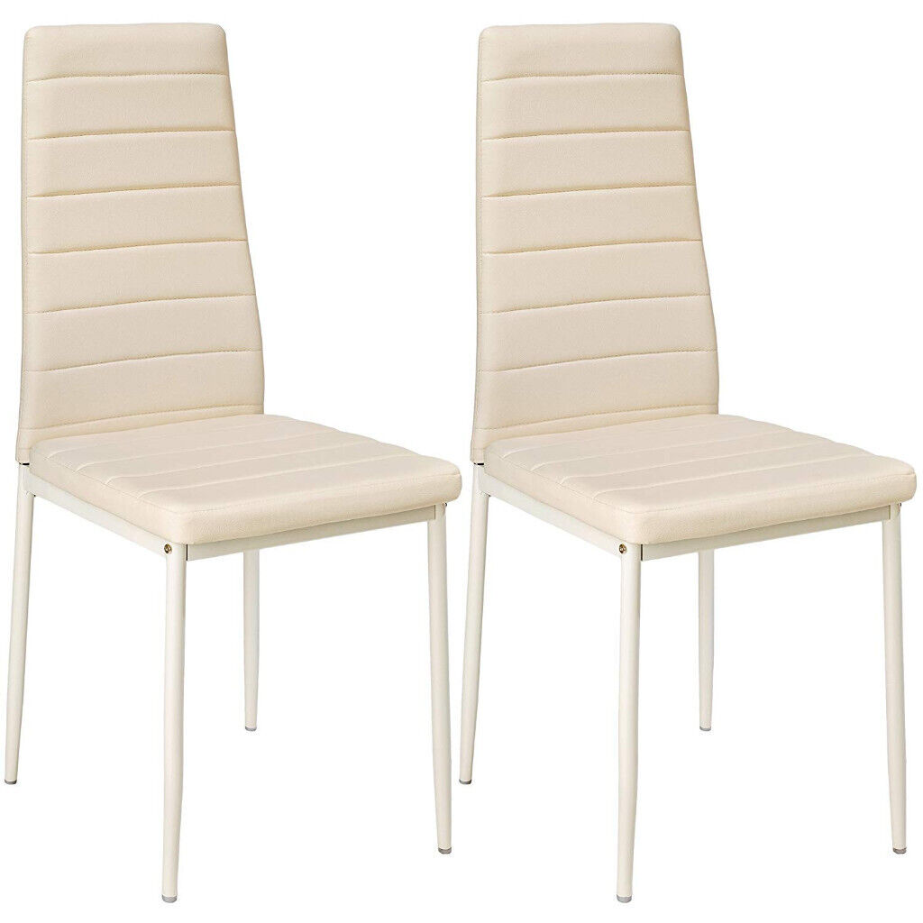 Modern Kitchen Chairs Two Brand New Cream Dining Chairs High Back Modern Kitchen Free Delivery Available In New Town Edinburgh Gumtree