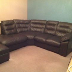 Dfs Brown Half Leather Corner Sofa How To Clean Fabric Stain Excellent Condition