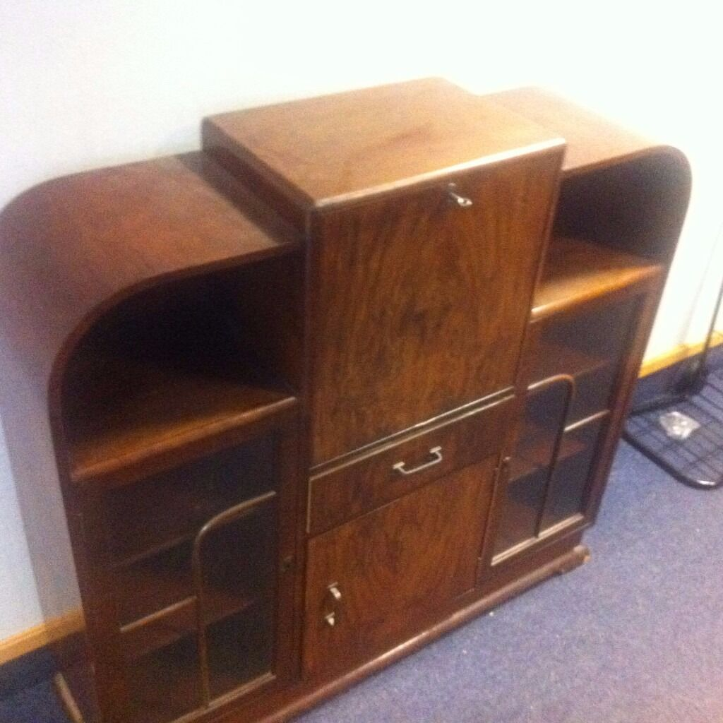 art deco sofas on gumtree adjustable sofa bed display cabinet walnut buy or sell find it used