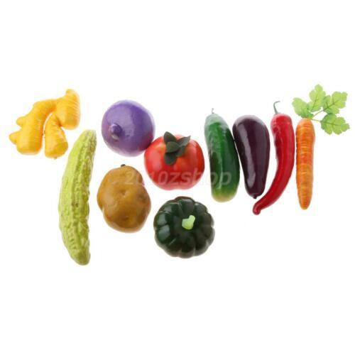 10x Künstliche Gemüse Lebensmittel Kunstgemüse Dekogemüse Dekoration