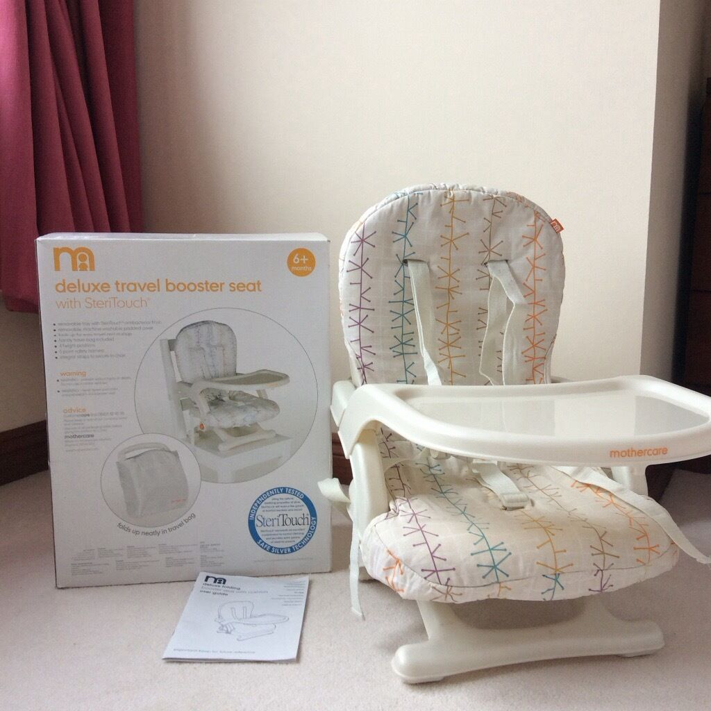 mothercare travel high chair booster seat baby shower throne deluxe with