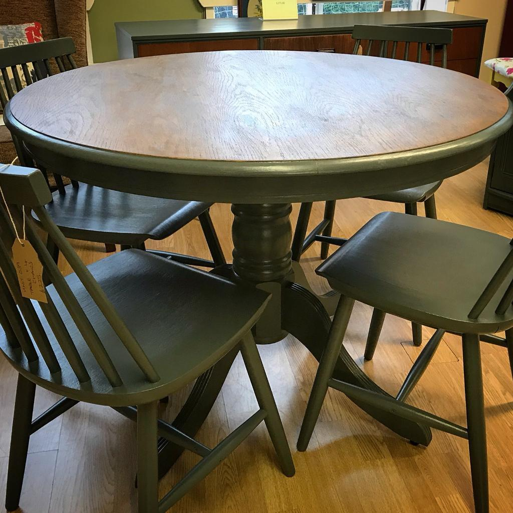 refurbished kitchen table tablecloths dining and four chairs in crosby merseyside