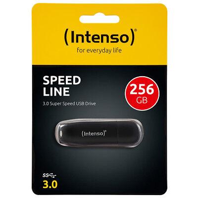 kQ Intenso Speed Line 256 GB USB Stick USB 3.0 SUPERSPEED schwarz