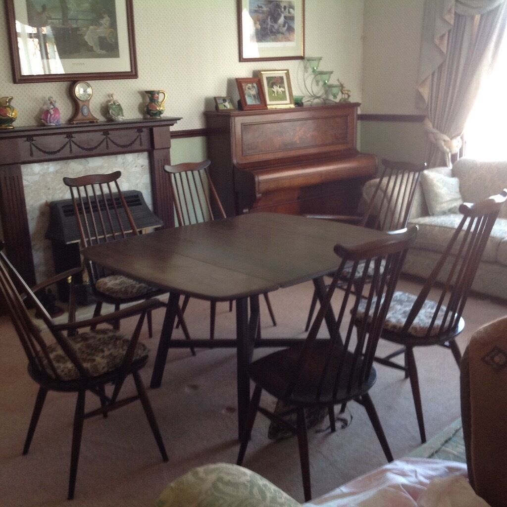 ercol windsor dining table and chairs springs for hanging 6 in carlisle cumbria gumtree