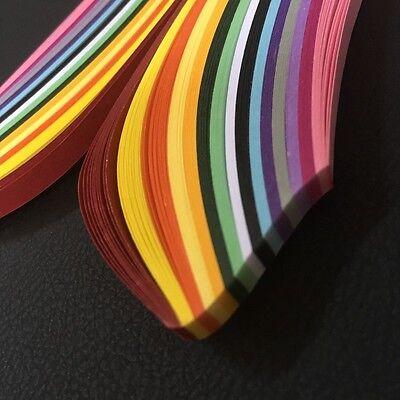 Quilling Papier 500x5mm DIY 15 Farben Board Papierstreifen Set Deko