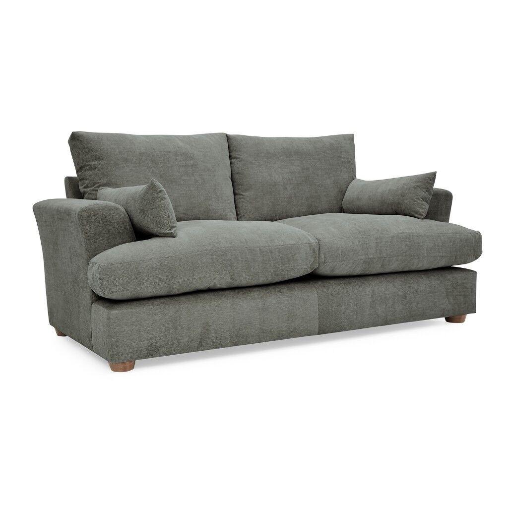 sofasworld edinburgh sofa table turned desk ritz fabric 2 seater dark grey barely used like new 499 retail