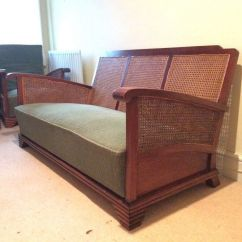 1930 Cane Back Sofa Asia Direct Home 3 Pc Convertible Sectional Bed With Storage Antique 1920 Mahogany And Four Piece Bergere Set