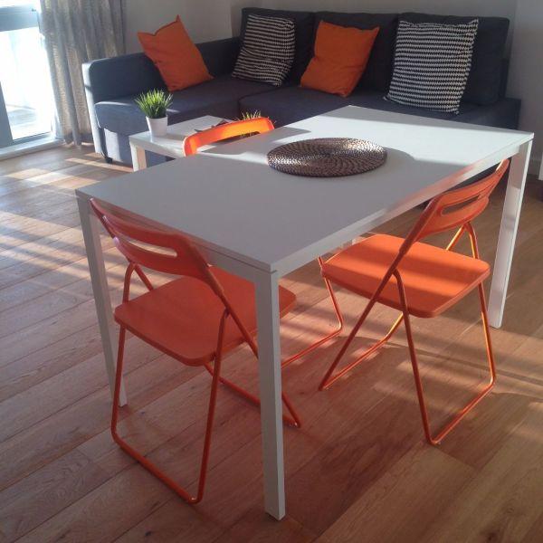 Orange Folding Chair Ikea Nisse - In
