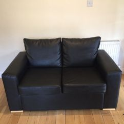 2 Seater Leather Sofa Next Wood Carving Furniture X Black Faux Sofas From In