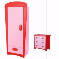 ikea pink mammut wardrobe and chest of drawers   in ...