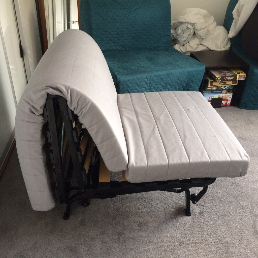 lycksele chair bed armrest covers for sale black with in box wiltshire gumtree