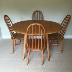 Retro Tables And Chairs Counter Height Task Chair Vintage 1960 39s Blonde Ercol Drop Leaf Dining Table
