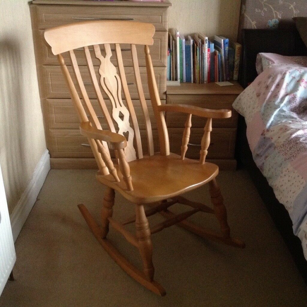 Wooden Rocking Chair For Nursery Pine Wooden Rocking Chair Ideal For Nursery Feeding Chair In