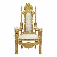How To Make A Queen Throne Chair Oversized Swivel 2 X New Gold Lion Wedding Events Luxury