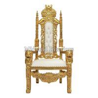 2 x New Gold Lion Queen Throne Chair Wedding Events Luxury ...
