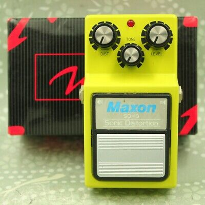 MAXON SD-9 Sonic Distortion With original box MIJ Guitar effect pedal 101NS0010